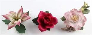 FINE PORCELAIN & CHINA FLOWER FIGURINES