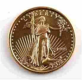 1995 GOLD 1/10 OZ AMERICAN EAGLE BU COIN