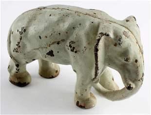 ANTIQUE HUBLEY CAST IRON ELEPHANT DOORSTOP