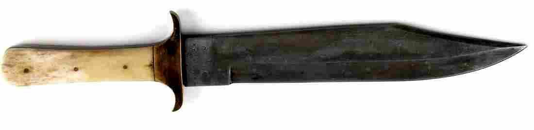 CIVIL WAR CONFEDERATE BOWIE KNIFE W BONE HANDLE