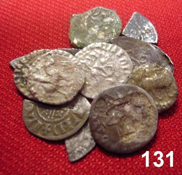 10131: INTERESTING LOT OF MEDIEVAL HAMMERED CUT COINS A