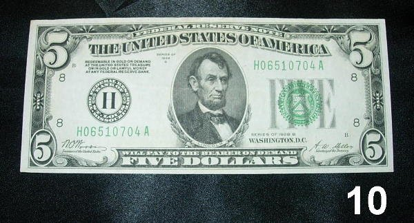 2010: FEDERAL RESERVE NOTE 1928B ST. LOUIS WOODS-MELLON