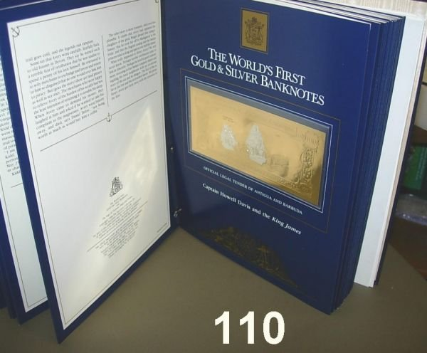 20110: EXCELSIOR COLLECTION 1988 GOLD & SILVER BANKNOTE
