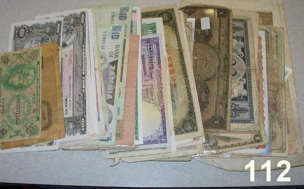 20112: LOT OF WORLD CURRENCY & BANKNOTES - HUGE VARIETY
