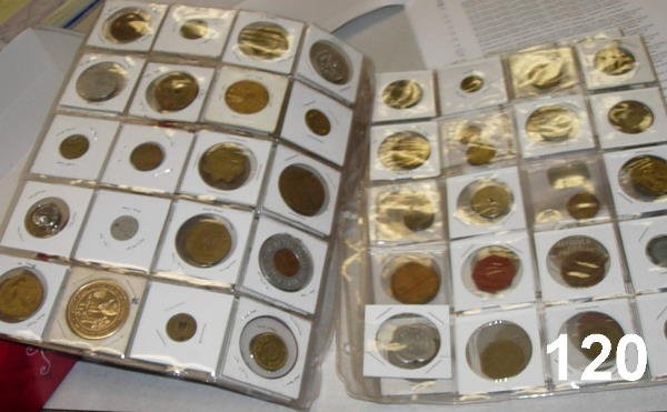 20120: TOKEN LOT OF 50 - AMERICAN WITH A FEW FOREIGN, S