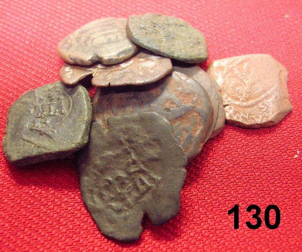 20130: LOT OF SPANISH MARAVEDIS COB COINS, COLLECTABLE