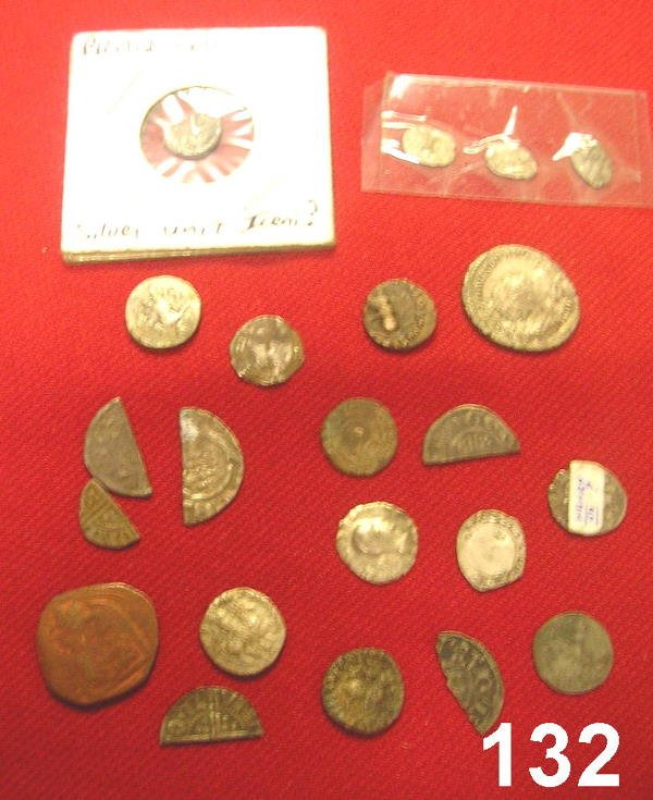 20132: INTERESTING LOT OF MEDIEVAL HAMMERED CUT COINS A