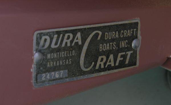 1958 DURACRAFT COLD WAR ERA FIBERGLASS FIN BOAT - 7