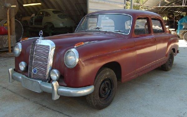 1957 RIGHT HAND DRIVE MERCEDES 220S 4 DOOR SEDAN