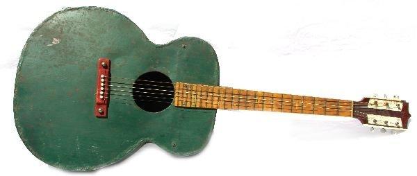 PRIMITIVE HANDMADE GREEN METAL GUITAR