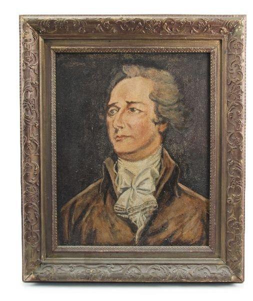 CANVAS PORTRAIT OF ALEXANDER HAMILTON