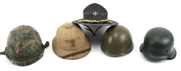 MIXED LOT OF MILITARY HELMETS