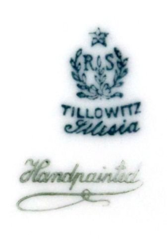 RS GERMANY TILLOWITZ SILESIA  PORCELAIN CHINA SE - 5