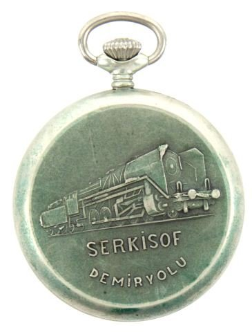 SERKISOF RUSSIAN RAILROAD POCKET WATCH - 2