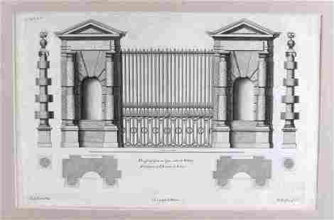 ARCHITECTURAL STYLE ETCHING OF GATE AT WILTON