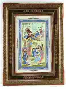 INDO ASIAN TURKISH PAINTED TILE WALL HANGING