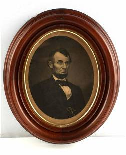 ANTIQUE STEEL ETCHING OF PRESIDENT ABRAHAM LINCOLN
