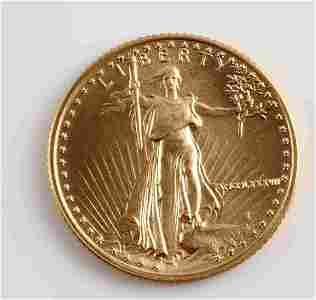 1987 GOLD 1/10 OZ AMERICAN EAGLE BU COIN