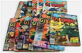 LOT OF 13 BRONZE AGE DC GI COMBAT COMICS