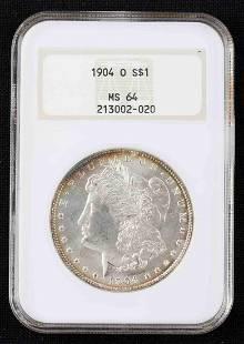 1904 O $1 SILVER LIBERTY HALF HEAD MS 64