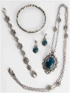 NAVAJO STERLING SILVER JEWELRY BY CAROLYN POLLACK