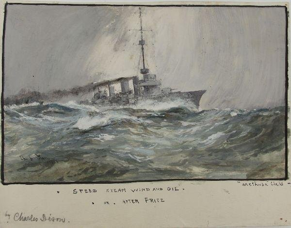 """""""SPEED STEAM WIND AND OIL"""" BY CHARLES DIXON 1917"""