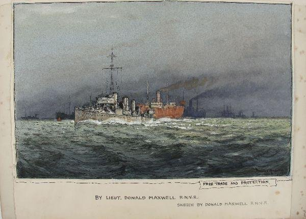 PAINTING BY LT DONALD MAXWELL R.N.V.R.1917