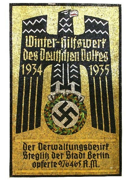 MOSAIC OF NAZI EAGLE BY AUGUST WAGNER