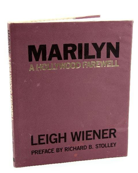 """""""MARILYN: A HOLLYWOOD FAREWELL"""" SIGNED BY AUTHOR"""