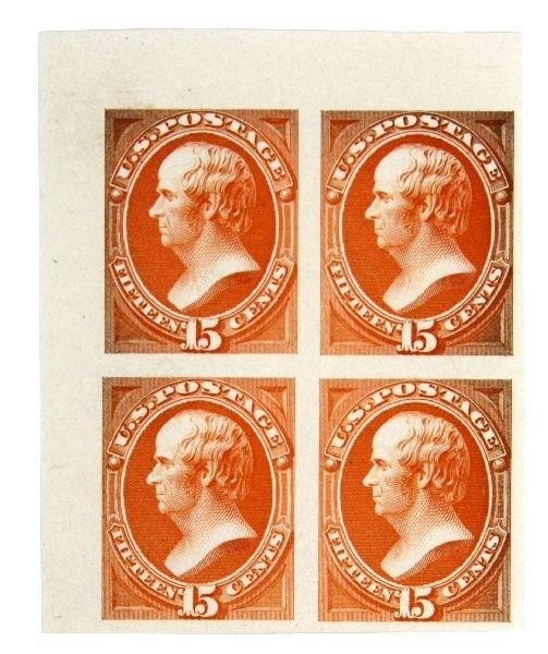WEBSTER 1870 INDIA PROOF STAMP BLOCK OF 4