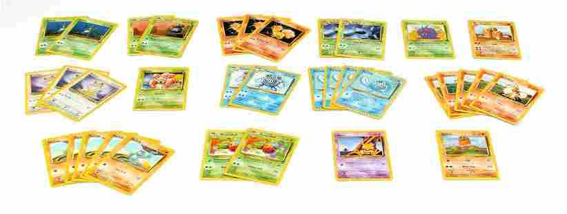 LOT OF 35 1999 GAMEFREAK BASE SET POKEMON CARDS