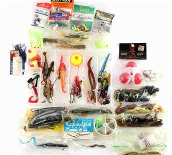 MISC FISHING LURES BOBBERS SINKERS BAIT TACKLE BOX