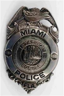 OBSOLETE MIAMI FLORIDA POLICE BADGE