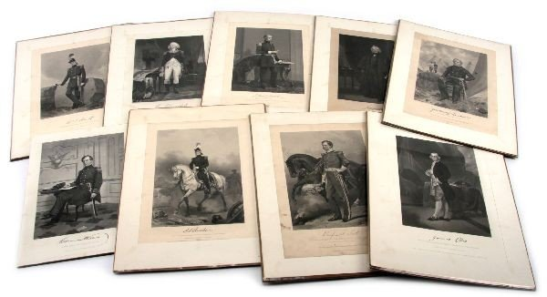 (9) ALANZO CHAPPEL ENGRAVINGS OF AMERICAN FIGURES