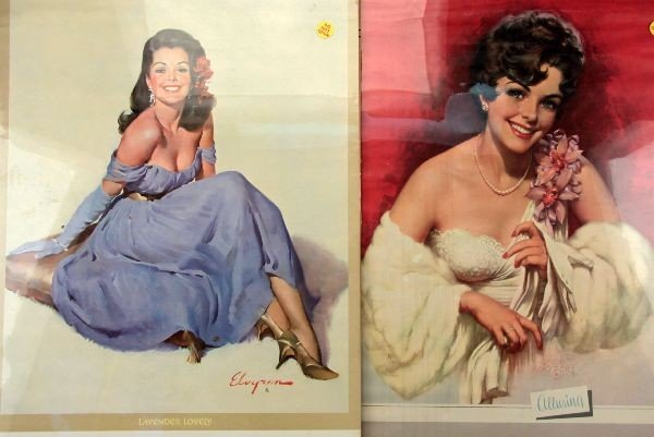 1960'S NUDE PEAKABOO PINUP GIRL CALENDAR LOT OF 7 - 2
