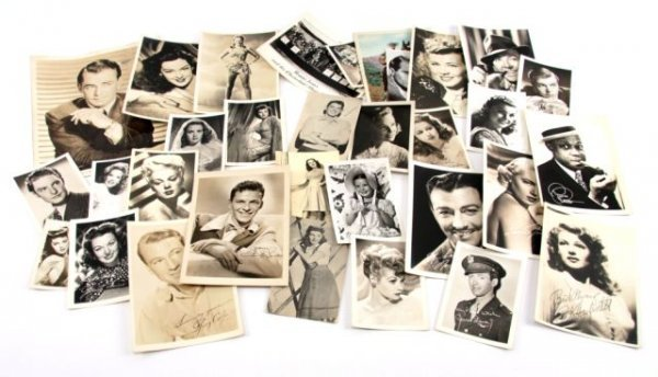 VINTAGE HOLLYWOOD AUTOGRAPHED PRESS PHOTOGRAPHS
