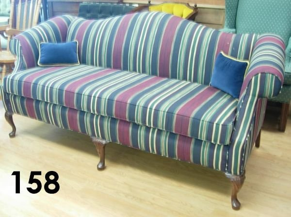40158: VICTORIAN STYLE SOFA SHUFORD FURNITURE STRIPED