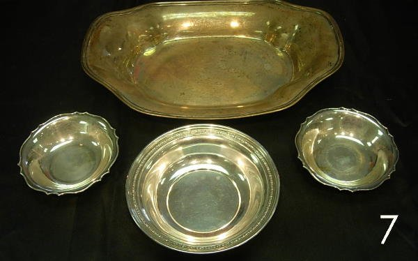 407: STERLING SILVER LOT OF 4 ITEMS - BOWL DISHES