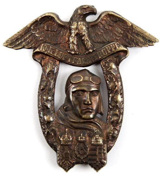 3: WWI AUSTRIA HUNGARY PILOT GRADUATION BADGE