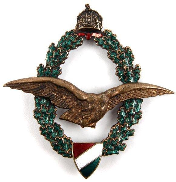 4: WWI HUNGARIAN PILOT BADGE IN BRONZE