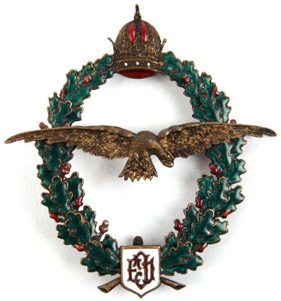 6: WWI AUSTRO HUNGARY FIELD PILOT BADGE