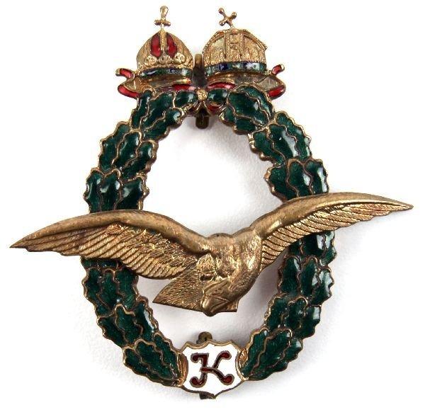 12: WWI AUSTRO HUNGARIAN FIELD PILOT BADGE