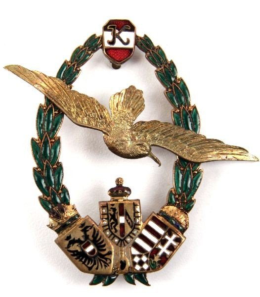13: WWI AUSTRIA HUNGARY AVIATION OBSERVER BADGE