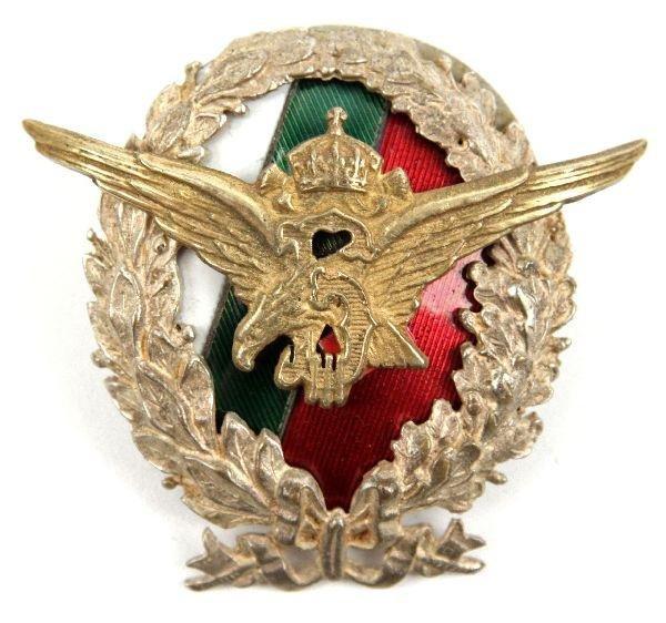 19: VERY RARE WWI BULGARIAN PILOT BADGE
