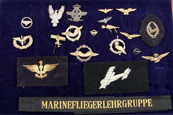 21: WWI U.S. GERMAN BULGARIA & MORE PILOT WING LOT