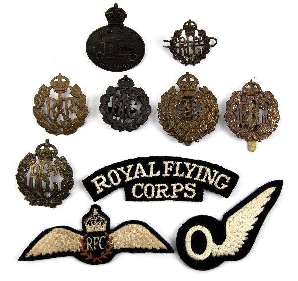 22: GROUPING OF RE RFC RAF AND RNAS BADGES AND PATCHES