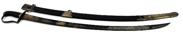 192: AMERICAN 1812-1820 CAVALRY SABER WITH SCABBARD