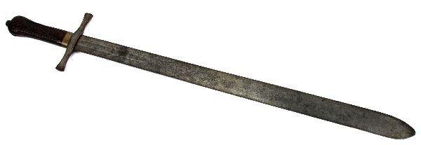 207: 18TH CENTURY ANTIQUE MASONIC ENGLISH BROADSWORD