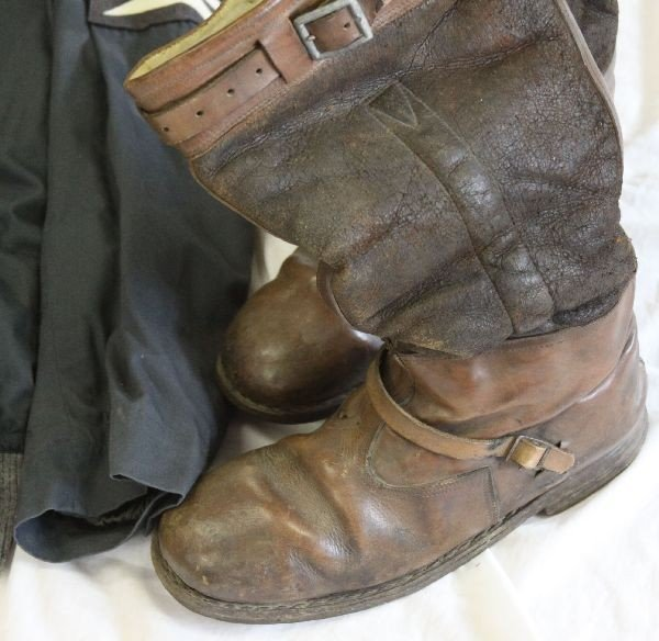 386: WWII LUFTWAFFE PILOTS UNIFORM WITH BOOTS & HELMET - 4