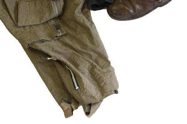 386: WWII LUFTWAFFE PILOTS UNIFORM WITH BOOTS & HELMET - 5